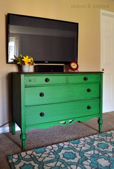 Picked & Painted - mixed emerald and lamp black by General Finished Milk Paint
