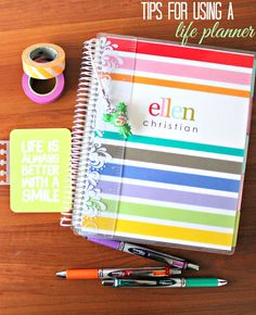 Are you feeling disorganized or like you're not reaching your goals? Check out my tips for using a life planner and get your life back on track today. #ECLP