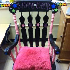 Classroom management ideas. My share chair!