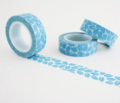 Blue Leaves Washi Tape - Floral Washi Tape