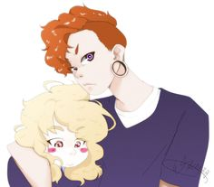 Lars and Sadie from Steven Universe by WaiiTako.deviantart.com on @DeviantArt