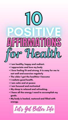Healthy Affirmations, Positive Affirmations Quotes, Self Love Affirmations, Affirmation Quotes, Positive Quotes, Affirmations For Women, Morning Affirmations, Self Care Bullet Journal, Manifestation Journal