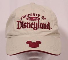 Disneyland Resort Property of Disneyland Mickey Mouse Baseball Hat Cap  Adjustabl 709f262d7ac