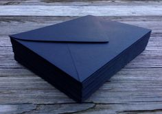 50 Black A7 5x7 Invitation or A1 (4Bar) RSVP Pointed Flap Envelopes - Paper Source Envelopes by SEEDInvites on Etsy https://www.etsy.com/listing/193741099/50-black-a7-5x7-invitation-or-a1-4bar
