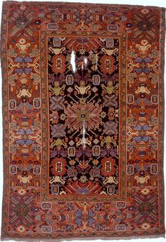 Persian Arak Fereghan rug, 185 cm x 127 cm, mid 19th c, Applied Arts Museum of Vienna (MAK)