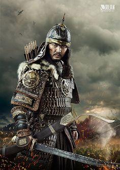 Mongolian actor Battur.