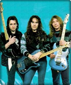 Steve with Adrian Smith and Dave Murray - Metal Masters. #IronMaiden