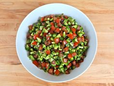 Israeli Salad - Simple Healthy Middle Eastern Recipe