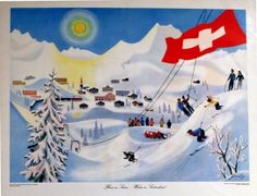 AntikBar specialises in original vintage posters. Extensive stock of original lithograph posters from around the world available to purchase online and at our gallery at 404 King's Road London travel posters, movie posters, skiing posters, Vintage Ski Posters, Retro Posters, Travel Illustration, Advertising Poster, Graphic Design Posters, Adelboden, Beautiful, Luggage Labels, Europe