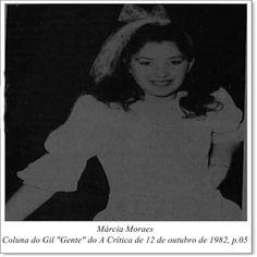 """Márcia Moraes. Coluna do Gil """"Gente"""" do A Crítica de 12 de outubro de 1982."""