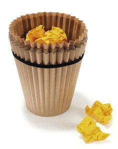 ごみ捨てが簡単なカップケーキ型ゴミ箱【Waste Paper Bin】