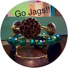 Jacksonville Jaguars Bangle Set! by BanglesandBurlapFL on Etsy https://www.etsy.com/listing/244355082/jacksonville-jaguars-bangle-set