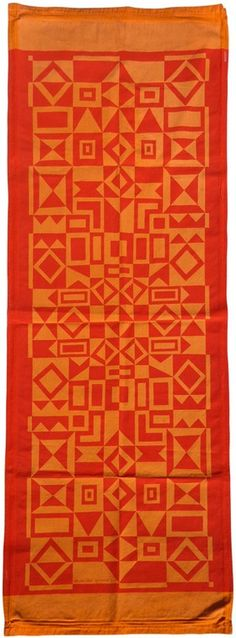 """""""Geometry"""" Wall Hanging, Environmental Enrichment Panel on Mexcotton ground, for Herman Miller, 1972"""