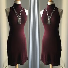Pickaboo back knit dress Available in 3 different colors and 3 sizes. Burgundy, gray, and black. SMALL, MEDIUM, LARGE.NO TRADES NO PAYPAL DISCOUNTS ON BUNDLES Dresses Backless