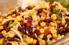 black bean and corn salsa done...