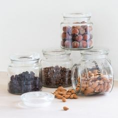 Anna stores her coffee beans in a glass jar with lid. What will you store in the jars? In stores now. Price DKK 2290 / SEK 3160 / NOK 3190 / EUR 318 / ISK 627 / GBP 2.54 H: 115 cm. #jars #glass #kitchen #coffeebeans #almonds #nuts #raisins #inspiration #sostrenegrene #søstrenegrene #grenehome
