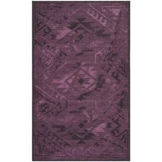 Safavieh Palazzo Black/ Purple Over-dyed Chenille Rug (4' x 6')