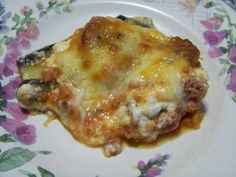 Eggplant, Sausage and Cheese Casserole Recipe Main Dishes with sausages, tomato sauce, eggplant, cottage cheese, parmesan cheese, large eggs, mozzarella cheese, oregano