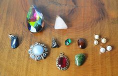 Jewelry Supplies, Jewelry Sets, Jewelry Making, Costume Jewelry, Vintage Jewelry, Gemstone Rings, Stones, Pendants, Etsy Shop