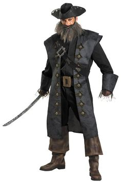 Disguise Unisex - Adult Deluxe Blackbeard: Clothing  http://www.worldofadultcostumes.com #fairy_tale_costumes #disney_adult_costumes #adulthalloweencostumes #halloween 2013 #snowwhitecostume #halloweencostumesfemaleadult #princess_female_costume #robin_costume_batman #best_adult_costume #blackbeard