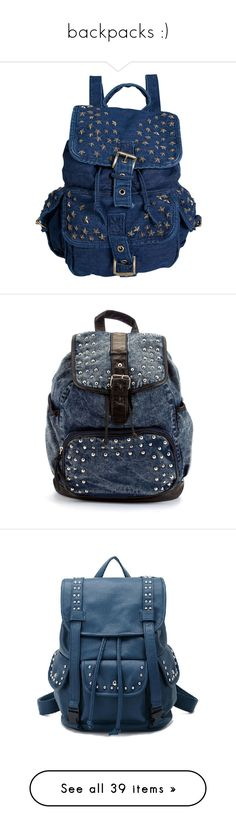 """""""backpacks :)"""" by lover210 ❤ liked on Polyvore featuring bags, backpacks, backpack, bolsas, accessories, mochilas, studded backpacks, star backpack, backpack bags and rucksack bags"""