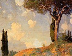 A Landscape Study at San Vigilio Lake of Garda 1913 | John Singer Sargent | Oil Painting