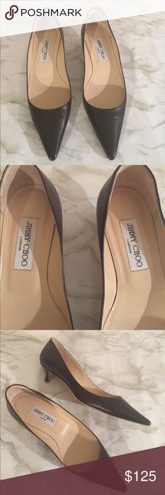 Jimmy Choo Leather Pointy Toe Pumps Great condition Jimmy Choo Brown Pumps. Size 6 / 36. Open to reasonable offers. Reasonable offers accepted. No box. Jimmy Choo Shoes Heels