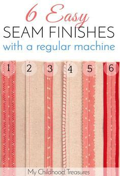 How to finish seams