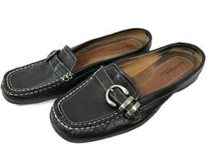NATURALIZER Size 8.5 M Womens Natural Soul Bezman Leather Slides Shoes Black #Naturalizer #Slides #WeartoWork
