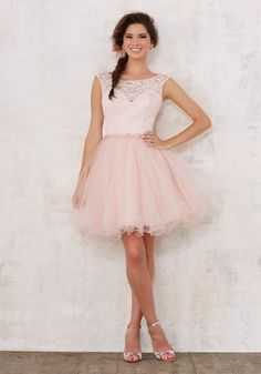 Quinceanera Dresses by Morilee designed by Madeline Gardner. Beautiful Quinceañera Bridesmaids Dress Featuring a Lace Bodice and Full Tulle Skirt.