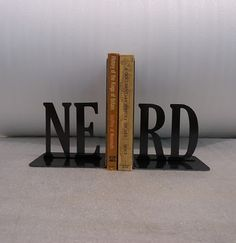 Handmade Bookends: Embracing nerditude.