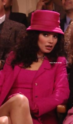 What Fran Wore: Hot Pink Escada for Saks Fifth Ave dress and coat Pink Fashion, 90s Fashion, Vintage Fashion, Fashion Outfits, New Outfits, Cute Outfits, Movie Outfits, Fran Fine The Nanny, Fran Fine Outfits