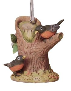Hallmark 2004 Spring Ornament Marjolein Bastin Natures Sketchbook Relaxing Robins QEO8321 You know its Spring when the robins appear! Ornament is new in box. Box is in excellent condition. Price tab i                                                                                                                                                     More
