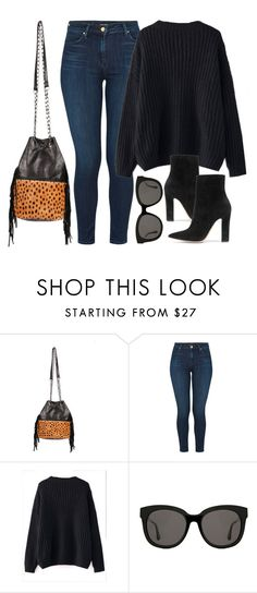 """Something Leo"" by mimicdesign ❤ liked on Polyvore featuring J Brand, WithChic, Gentle Monster, Gianvito Rossi and leopardbag"