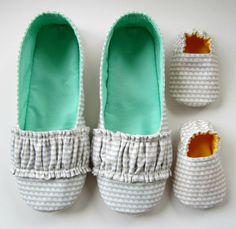 Mom and Baby Slipper Set  Molipop Slippers in White by Molipop, $55.00