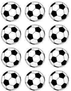 15 soccer ball edible precut icing cupcake cup cake
