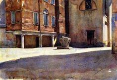 Johm Singer Sargent - Campo San Canciano, Venice, 1882