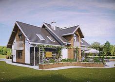 Zdjęcie projektu Herbert - murowana – beton komórkowy KRD2711 D House, Design Case, Home Fashion, Planer, Farmhouse, Exterior, Villa, House Design, Cabin