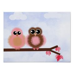 Fuzzy Owls without saying Print