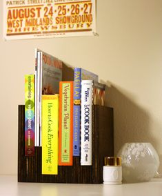 Beautiful DIY bookcase, inspired from an Anthropologie bookcase.
