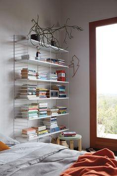 String Floor Shelving - Design Within Reach Boltless Shelving, Shelving Design, Modular Shelving, Bookshelf Design, Shelving Systems, Cheap Bookshelves, Bookcase Shelves, Bookshelves In Bedroom, Book Shelves
