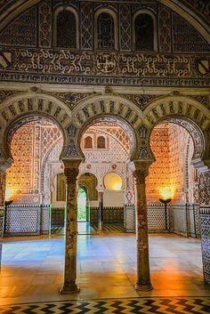 Moorish Palace inside the Royal Alcazars of Sevilla - Spain Ahhhh, I remember the amazing architecture!