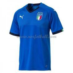Italia 2018 Landslagsdrakt Kortermet Hjemme Fotballdrakter Polo Shirt, Polo Ralph Lauren, Mens Tops, Shirts, Fashion, Moda, Polos, La Mode, Shirt