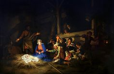 Adoration of the Shepherds by Christian Wilhelm Ernst Dietrich (1712 - 1774)