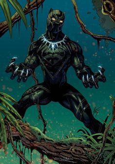 fanart of Black Panther King of Wakanda Marvel Comics, Hq Marvel, Marvel Heroes, Marvel Characters, Marvel Cinematic, Black Panther Marvel, Black Panther King, Black Panther Images, Jack Kirby