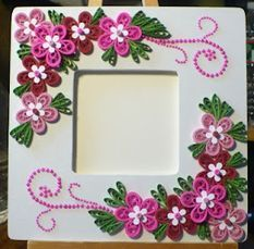 unique quilling gift photo frame designs for girls - quillingpaperdesigns