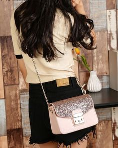 dd0c60629b Sequined Chain Strap Crossbody Bag
