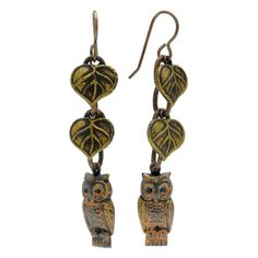 Retired - An Owl in the Forest Earrings | Beadaholique