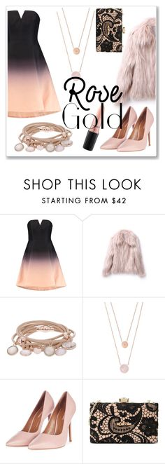 """ombre dress"" by elisabetta-negro ❤ liked on Polyvore featuring Halston Heritage, Marjana von Berlepsch, Michael Kors, Topshop, Love Moschino and MAC Cosmetics"