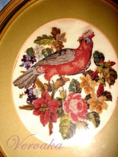 Gallery.ru / Фото #95 - СОЗЕРЦАЕМ КРАСОТУ-168 - GAVRUCHA Vintage Cross Stitches, Antique Prints, Embroidered Silk, Hand Embroidery, Needlework, Ottoman, Decorative Plates, Berlin, Antiques